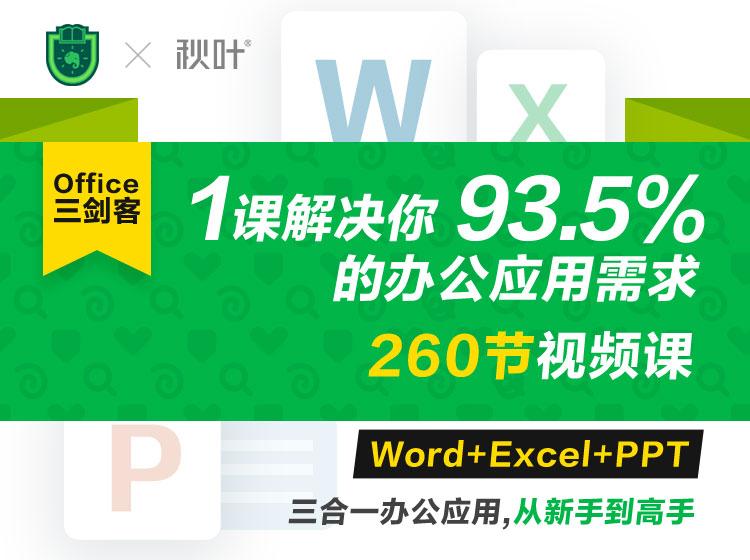 office视频学习教程 Office三剑客Word+Excel+PPT